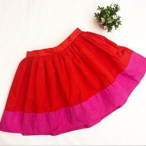 GAP Kate Spade Pink Red Color Block Skirt Girls 10
